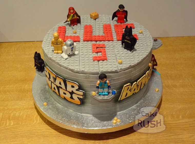 Lego Batman & Star Wars cake