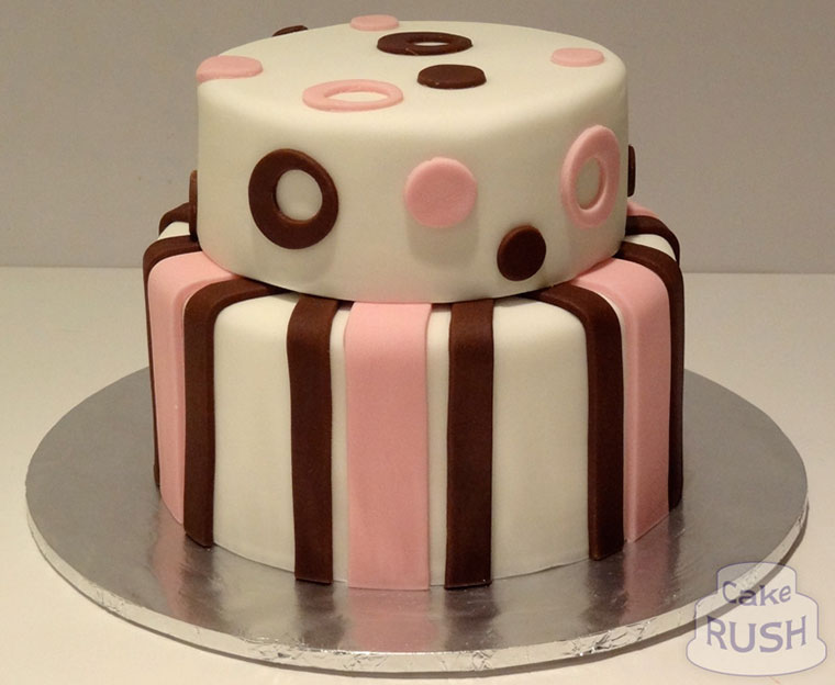 Spots and stripes cake