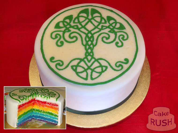 Celtic Rainbow cake