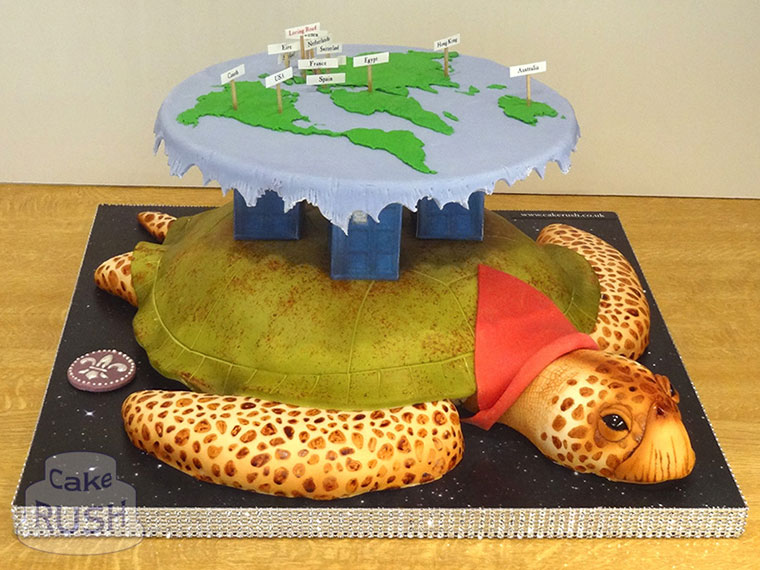 Discworld (Great A'Tuin) cake