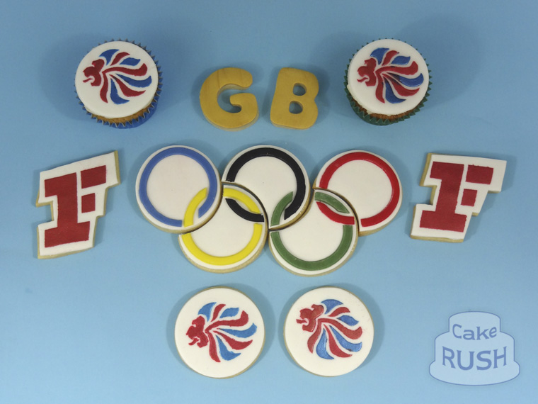 Team GB cupcakes & biscuits