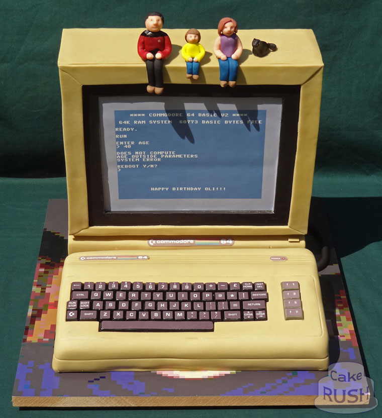 Commodore 64 computer cake