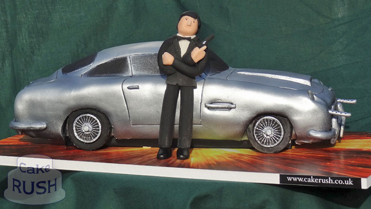 James Bond Aston Martin DB5 car cake