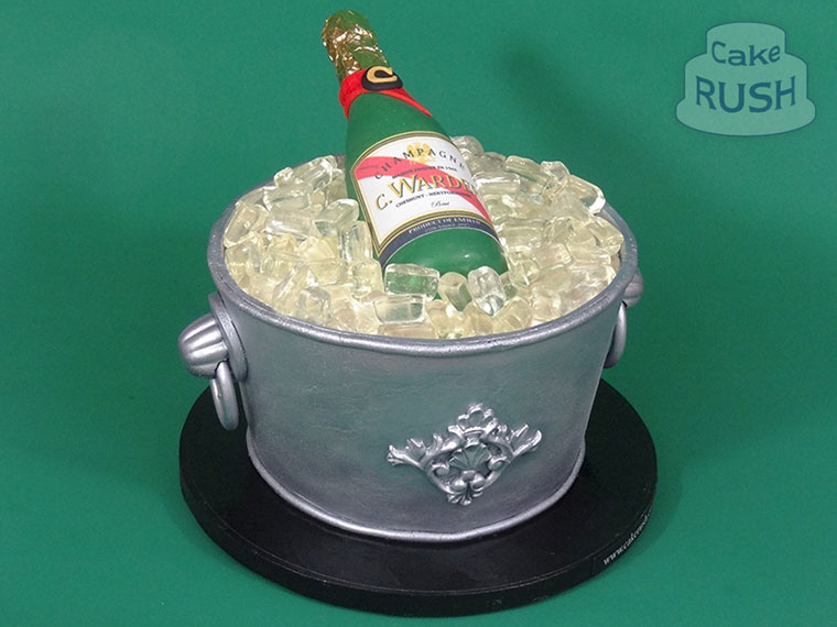 Champagne Bucket cake 2