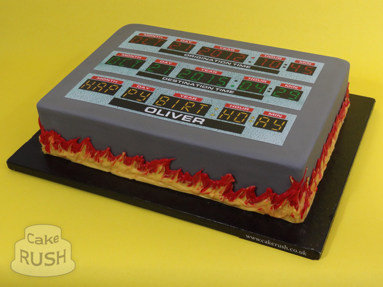 Back to the Future 2 cake