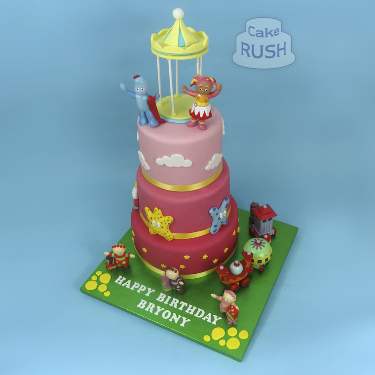 In the Night Garden cake & cupcakes
