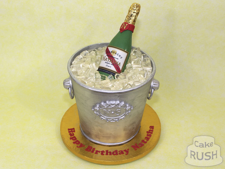 Champagne Bucket cake 4