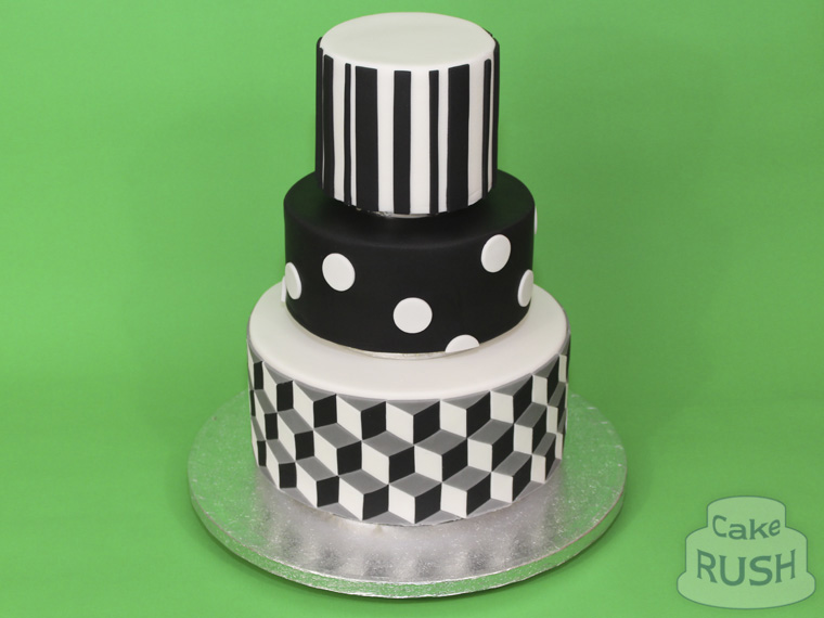 Black and White 21 cake